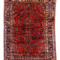 "Antique Persian Mahajeran Sarouk 8'6""×12'1"""