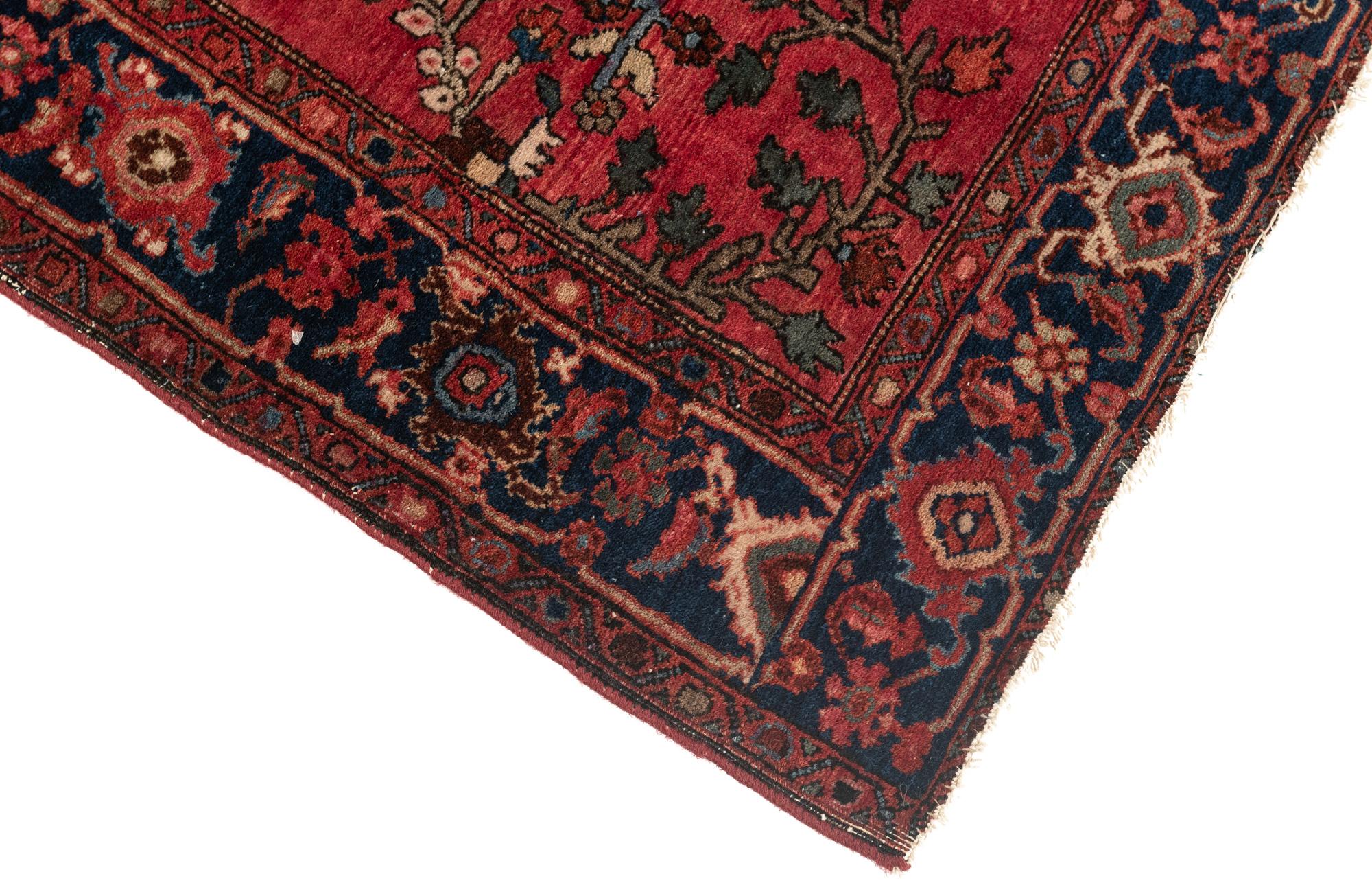 """Antique Persian Mahajeran Sarouk 3'3""""×4'9"""""""