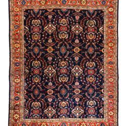 "Antique Persian Mahal 10'8""×13'6"""