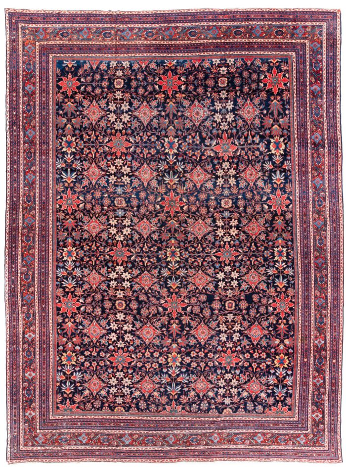 "Antique Persian Mahal 13'2""×17'4"""
