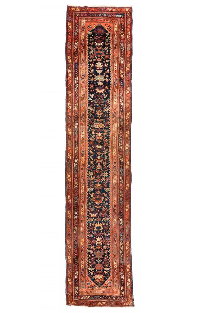 "Antique Persian Malayer 3'6""×15'10"""