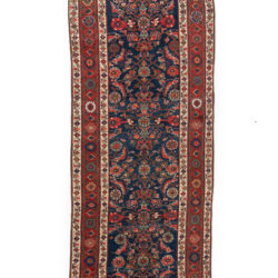"Antique Persian Malayer 3'7""×16'0"""