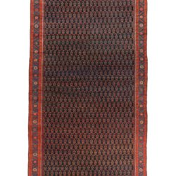 "Antique Persian Malayer Sereband Rug 7'6""×24'2"""