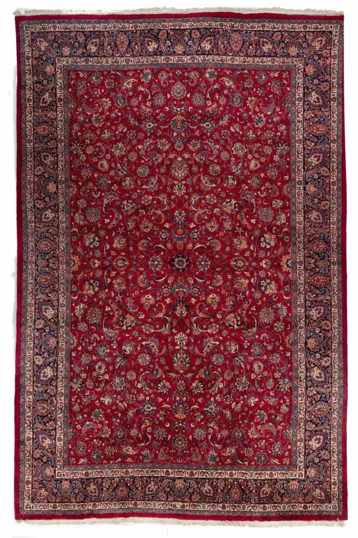 "Antique Persian Meshad 13'0""×19'8"""
