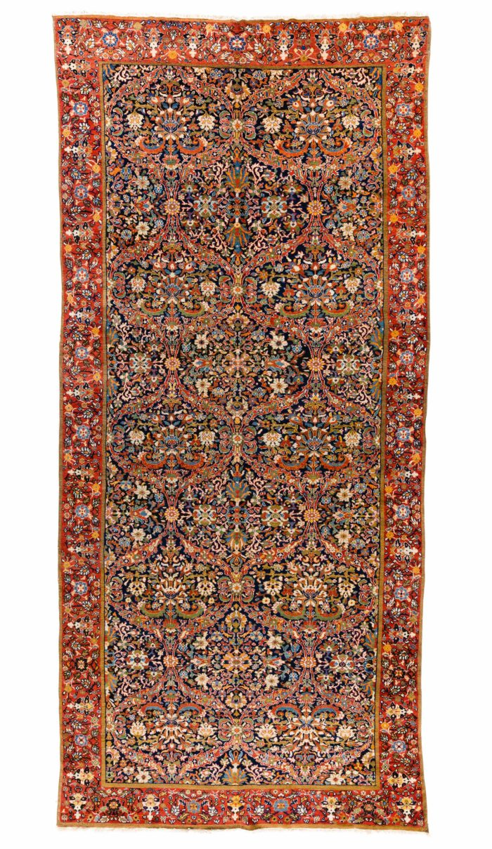 "Antique Persian Minihani Jalahir 8'5""×18'3"""