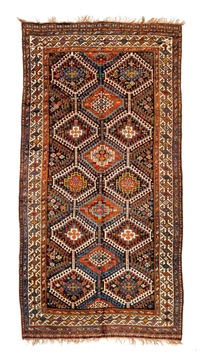 """Antique Persian Qashqa'i 5'0""""×9'8"""""""