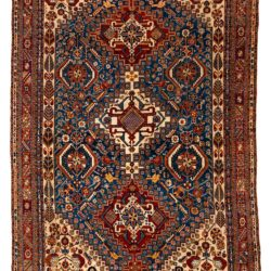 "Antique Persian Qashqa'i 5'8""×8'8"""