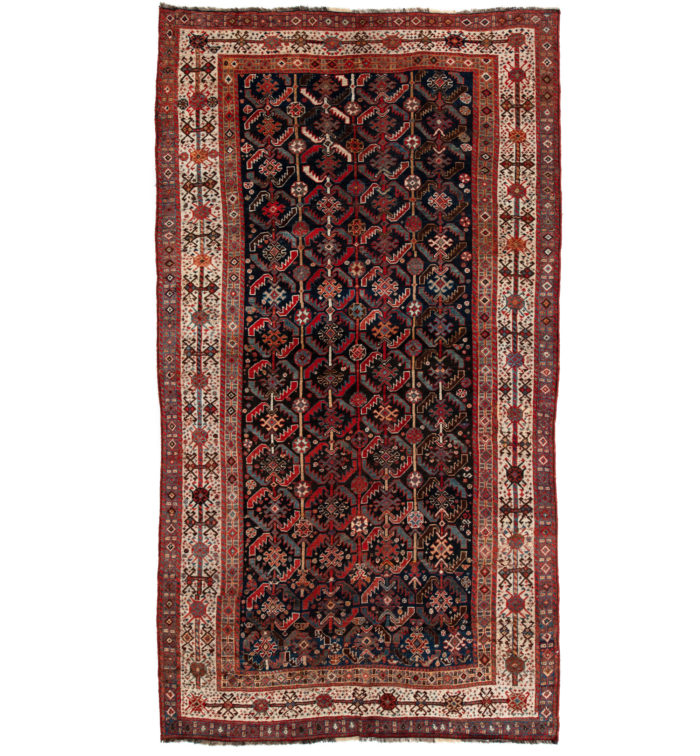 "Antique Persian Qashqa'i 5'2""×9'4"""