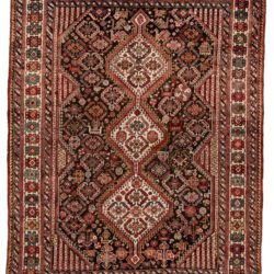 """Antique Persian Qashqa'i 5'4""""×7'0"""""""