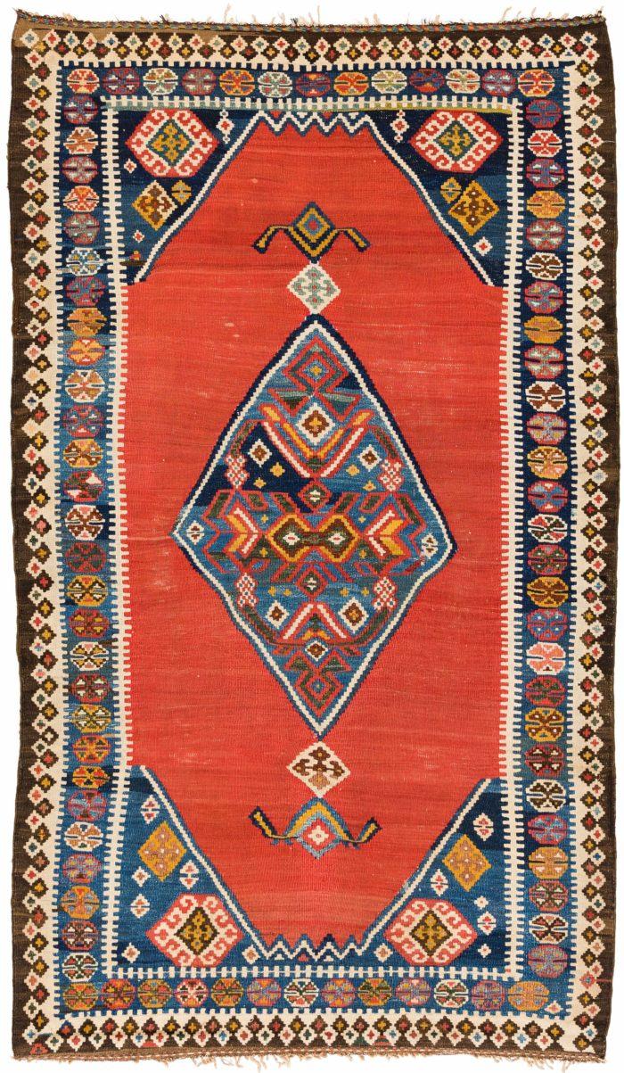 """Antique Persian Qashqa'i Kilim 3'11""""×6'7"""""""