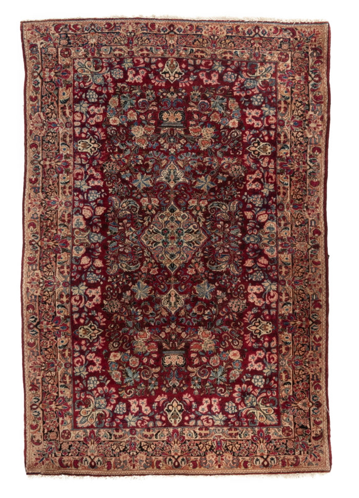 """Antique Persian Sarouk 4'2""""×6'3"""""""