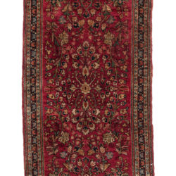 "Antique Persian Sarouk 2'1""×4'1"""