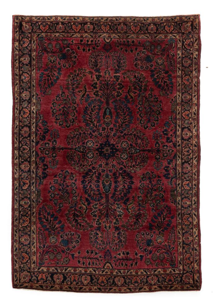 """Antique Persian Sarouk 4'4""""×6'5"""""""