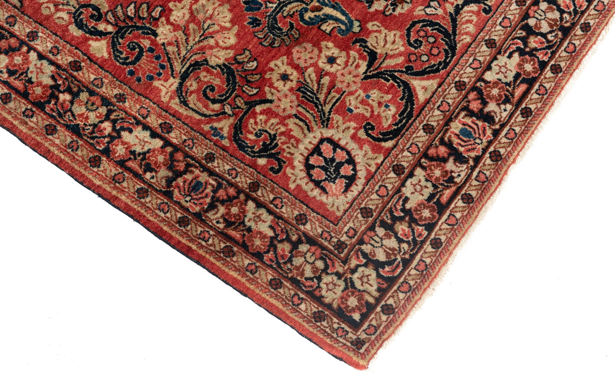 """Antique Persian Sarouk 3'4""""×8'11"""""""