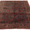 "Antique Persian Sarouk Hand-Knotted Wool Rug 8'0""×10'2"""