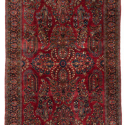 "Antique Persian Sarouk Rug 4'3""×6'6"""