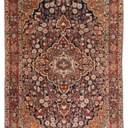 "Antique Persian Sarouk Rug 4'3""×6'9"""