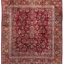 "Antique Persian Sarouk Rug 11'11""×13'8"""