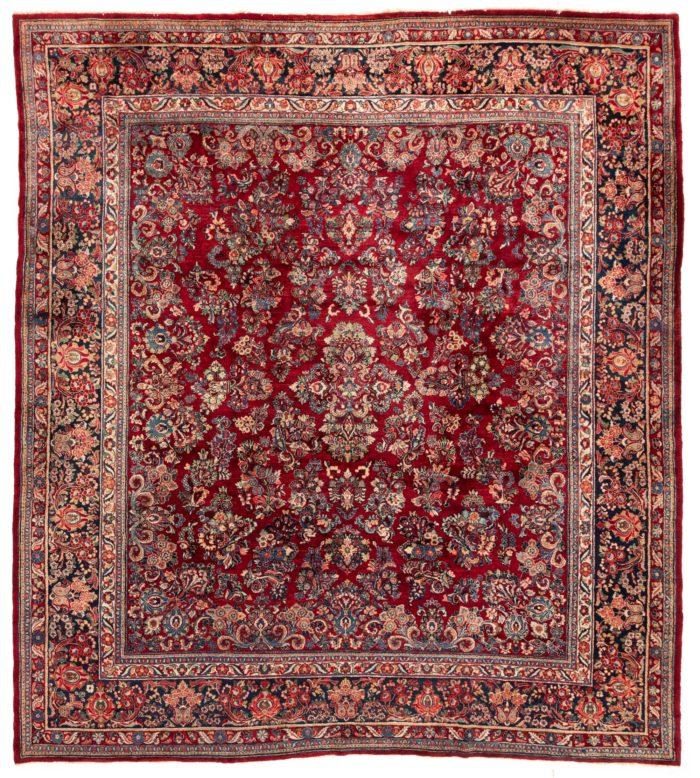 """Antique Persian Sarouk Rug 11'11""""×13'8"""""""