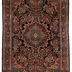 "Antique Persian Sarouk Rug 4'3""×6'7"""