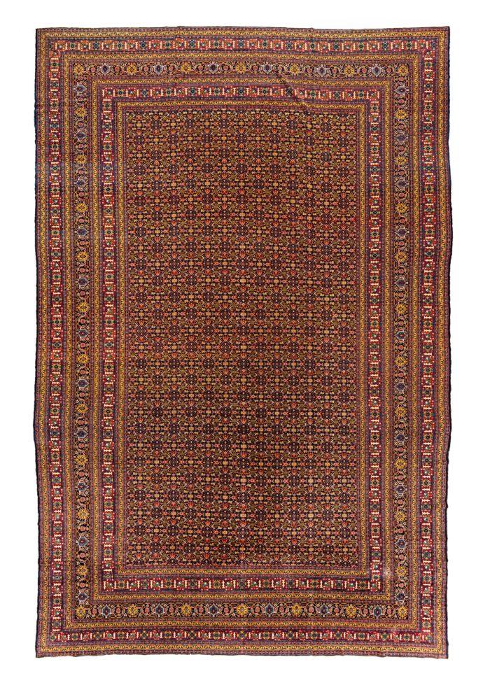 "Antique Persian Senneh 12'8""×18'10"""