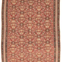 "Antique Persian Senneh Kilim 4'7""×6'4"""