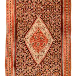 "Antique Persian Senneh Kilim 3'7""×6'1"""