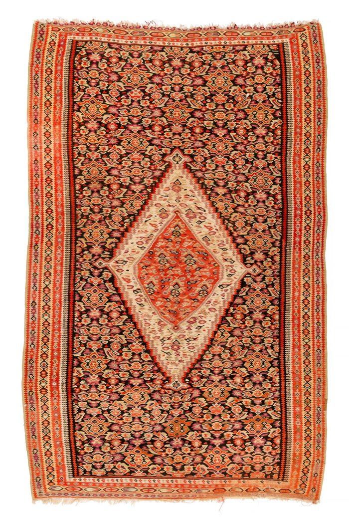 "Antique Persian Senneh Kilim 3'7""×6'1"""