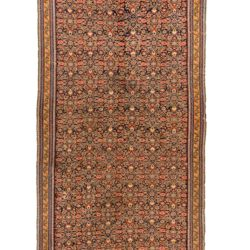 "Antique Persian Senneh Kilim 7'4""×17'4"""