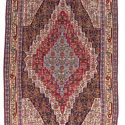 "Antique Persian Senneh Kilim 5'4""×7'7"""