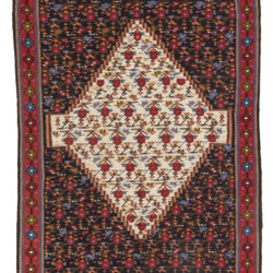 "Antique Persian Senneh Kilim 3'11""×5'11"""