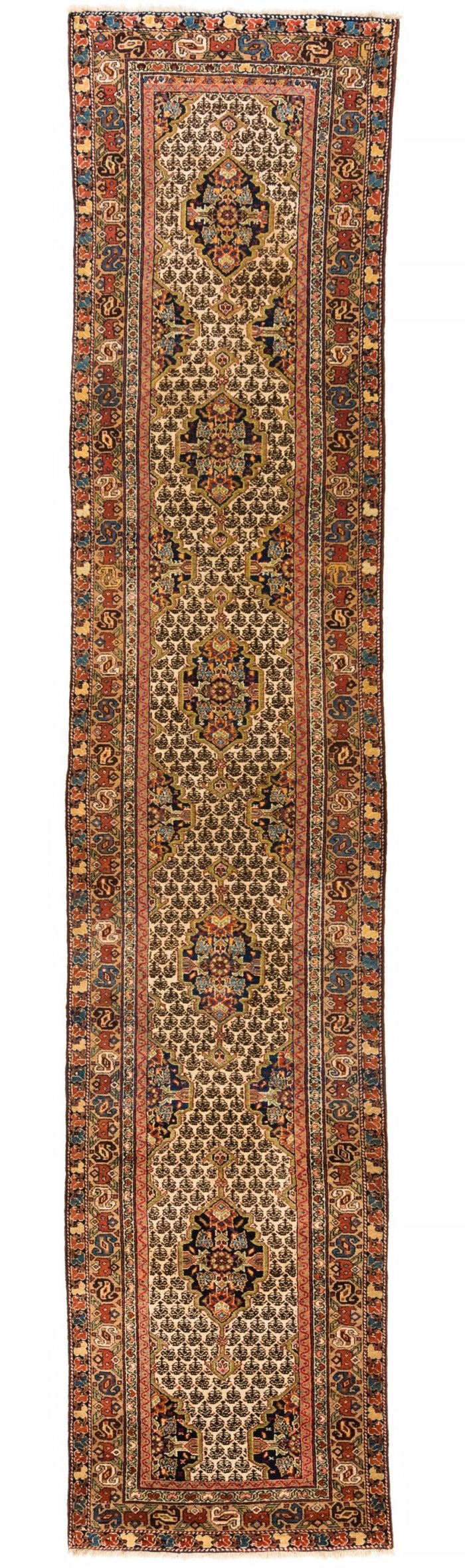 "Antique Persian Senneh Kurd 3'4""×16'2"""