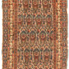 "Antique Persian Senneh Pushti Mat 1'10""×2'10"""