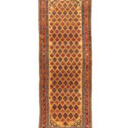 "Antique Persian Serab Runner 3'7""×9'11"""