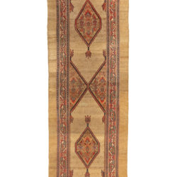 "Antique Persian Serab Runner 3'6""×12'3"""