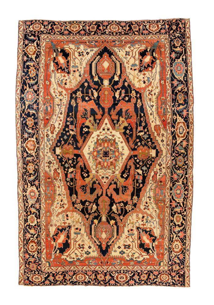 "Antique Persian Serapi 12'1""×18'10"""