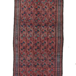 "Antique Persian Shahsavan Wool Rug 4'6""×10'0"""