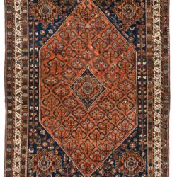 "Antique Persian Shiraz 7'6""×10'1"""