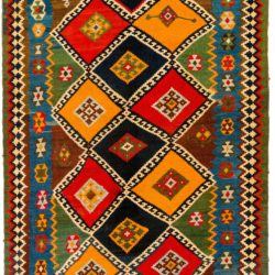"Antique Persian Shiraz Kilim 5'2""×10'8"""