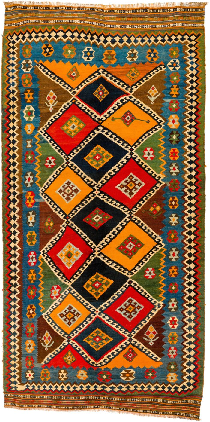 Antique Persian Shiraz Kilim 5 2 Quot 215 10 8 Quot