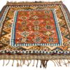 "Antique Persian Shiraz Kilim 5'2""×7'4"""