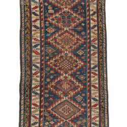 "Antique Persian Shirvan Rug 3'2""×7'0"""