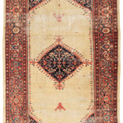 "Antique Persian Sultanabad Rug 5'4""×8'2"""