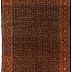 "Antique Persian Tabriz 9'10""×13'7"""