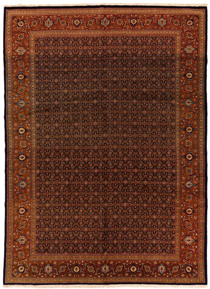 "Antique Persian Tabriz 9'10""×13'7"""