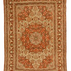 "Antique Persian Tabriz 4'0""×5'9"""