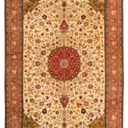 "Antique Persian Tabriz 7'0""×10'7"""