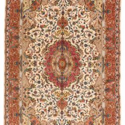 "Antique Persian Tabriz 6'7""×10'1"""