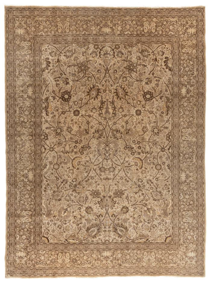 "Antique Persian Tabriz 9'10""×13'0"""