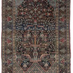 "Antique Persian Tehran Rug 4'9""×8'3"""